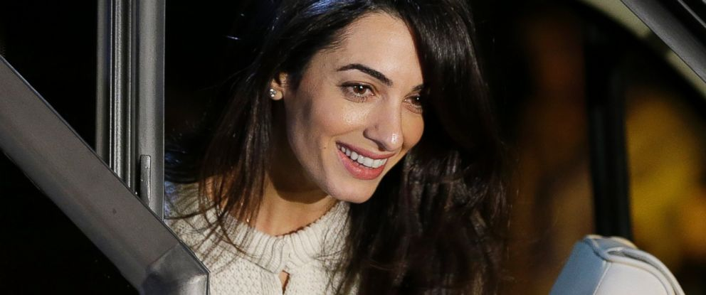 PHOTO: Lawyer Amal Alamuddin arrives at a central hotel in Athens, Oct. 13, 2014.