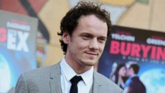 """PHOTO: Anton Yelchin arrives at a special screening of """"Burying the Ex"""" held at Graumans Egyptian Theater in Los Angeles, June 11, 2015."""