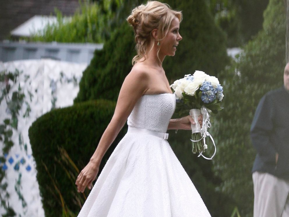 All the details of cheryl hines dress for her kennedy wedding photo actress cheryl hines walks across a lawn to the tent where her wedding to junglespirit Gallery