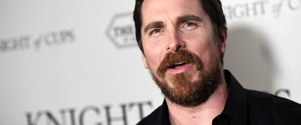 """PHOTO: Christian Bale attends the premiere of the film """"Knight of Cups"""" at The Theatre at Ace Hotel, March 1, 2016, in Los Angeles."""