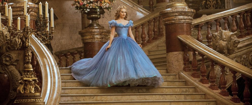 """PHOTO: Lily James as Cinderella in Disneys live-action feature inspired by the classic fairy tale, """"Cinderella."""""""
