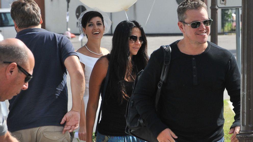 Matt Damon Cindy Crawford Among The Stars Attending George Clooney And Amal Alamuddin S Wedding Abc News