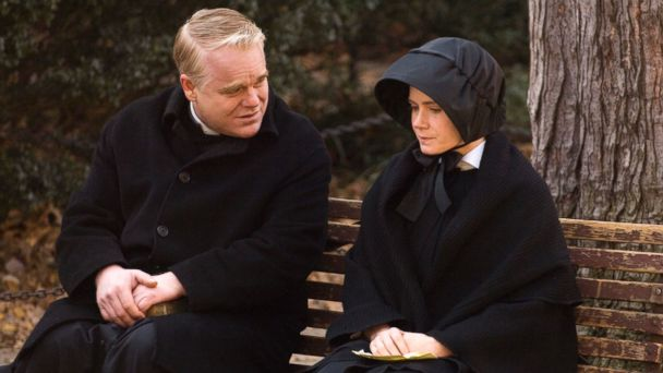 "PHOTO: Philip Seymour Hoffman portrays Father Flynn, left, and Amy Adams portrays Sister James in a scene from ""Doubt."""