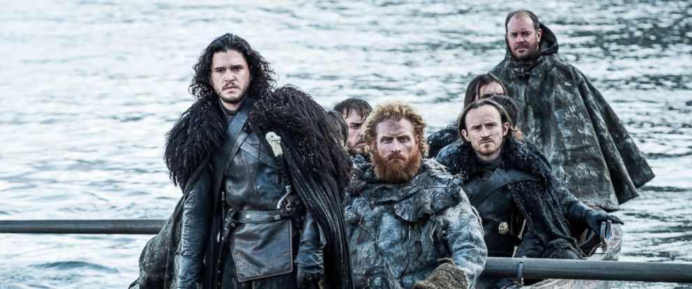 "PHOTO: Kit Harington as Jon Snow, left, in a scene from ""Game of Thrones."""