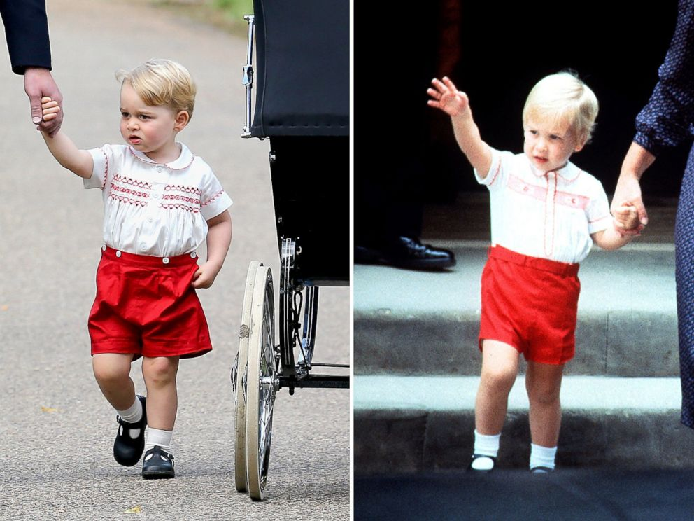 PHOTO: Prince George, left, is pictured on July 5, 2015. Prince William, right, is pictured on Sept. 16, 1984.
