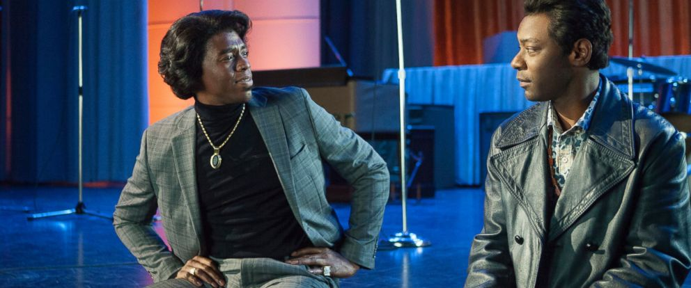 """PHOTO: Chadwick Boseman, left, and Nelsan Ellis in a scene from """"Get On Up."""""""