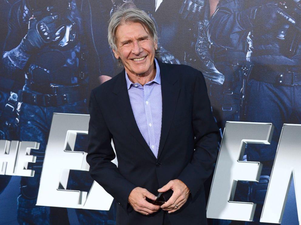 PHOTO: Harrison Ford arrives at the premiere of The Expendables 3 at TCL Chinese Theatre in Los Angeles, Calif., Aug. 11, 2014.