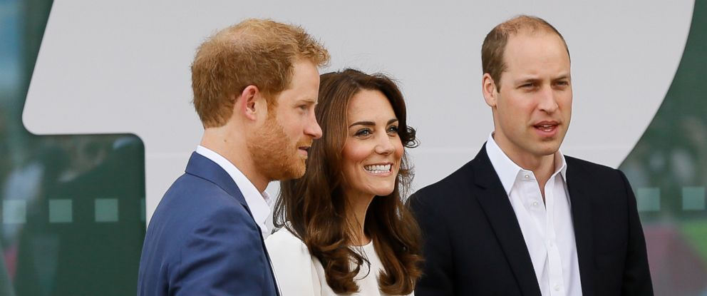 PHOTO:Prince William, and Kate, the Duke and Duchess of Cambridge and Prince Harry attend the launch of Heads Together, their ambitious new campaign to end stigma on mental health, at the Olympic Park in London, May 16, 2016.