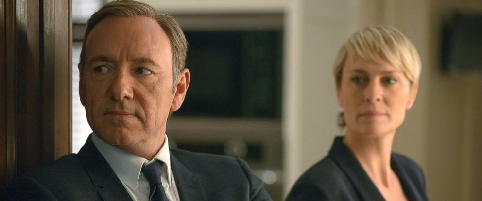 """PHOTO: Kevin Spacey as Frank Underwood, left, and Robin Wright as Claire Underwood in Netflixs series """"House of Cards."""""""