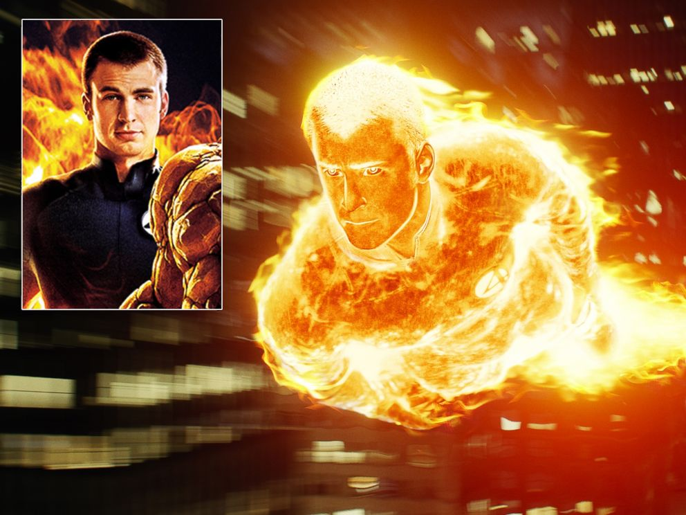 PHOTO: Chris Evans as The Human Torch in The Fantastic Four.