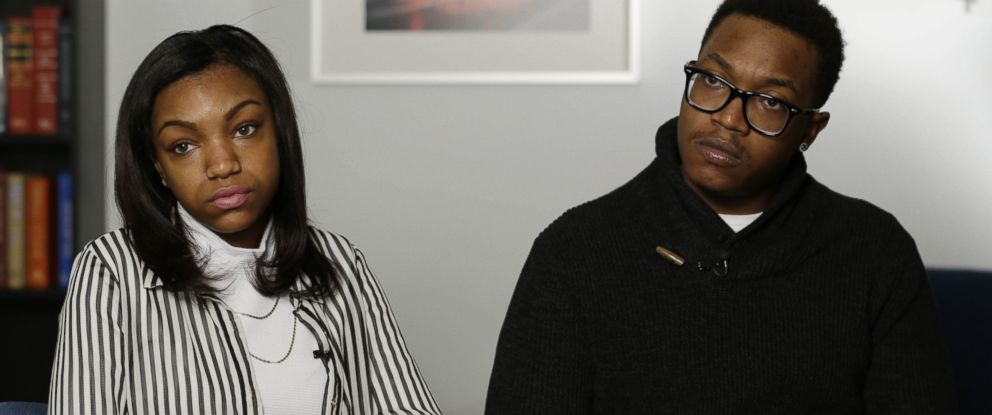PHOTO: Jamel McNair, right, and Danita McNair, left, the children of James McNair, are interviewed in New York City on Jan. 21, 2015.