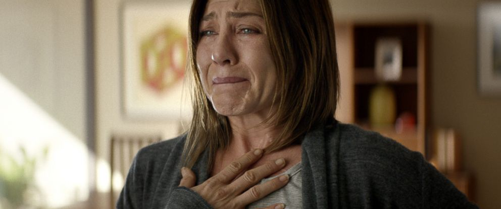 "PHOTO: Jennifer Aniston in a scene from ""Cake."" Aniston was nominated for a Golden Globe for best actress in a drama for her role in the film, Dec. 11, 2014."