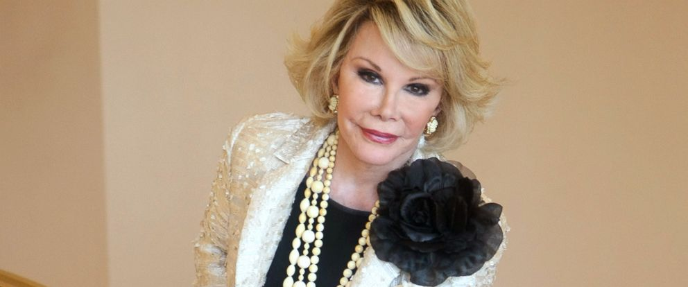 "PHOTO: Joan Rivers poses as she presents the ""Comedy Roast with Joan Rivers"""