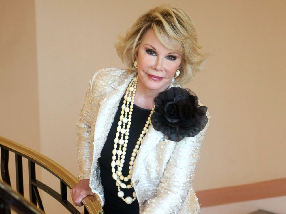 PHOTO: Joan Rivers poses as she presents the Comedy Roast with Joan Rivers