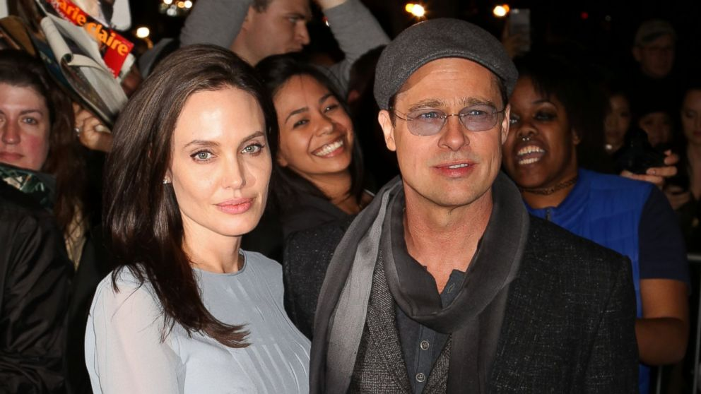 """Angelina Jolie and Brad Pitt attend a special screening of """"By The Sea"""" on Nov. 3, 2015, in New York."""