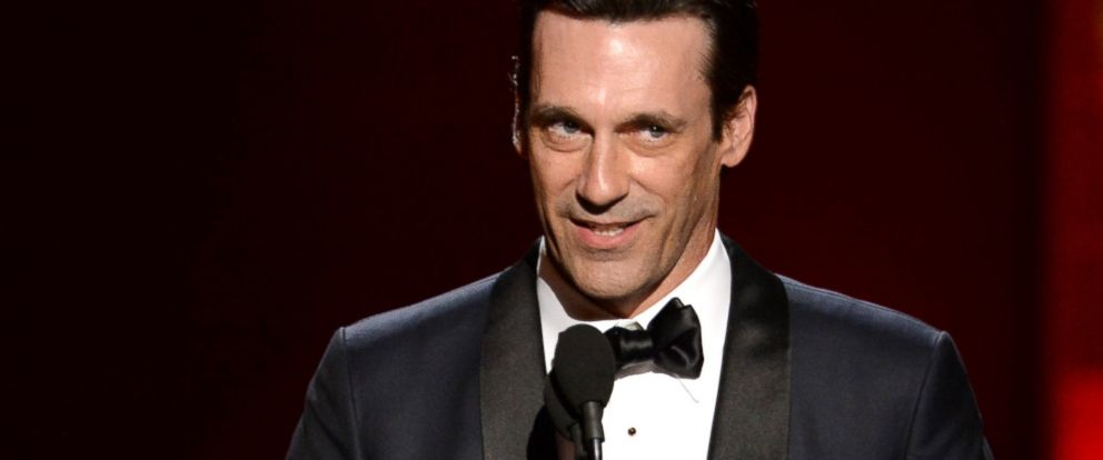 PHOTO: Jon Hamm accepts the award for outstanding lead actor in a drama series for ?Mad Men? at the 67th Primetime Emmy Awards, Sept. 20, 2015, at the Microsoft Theater in Los Angeles.