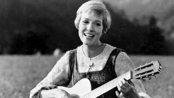 """PHOTO: Julie Andrews bringing music to the hills of Austria in this scene from """"The Sound of Music."""""""