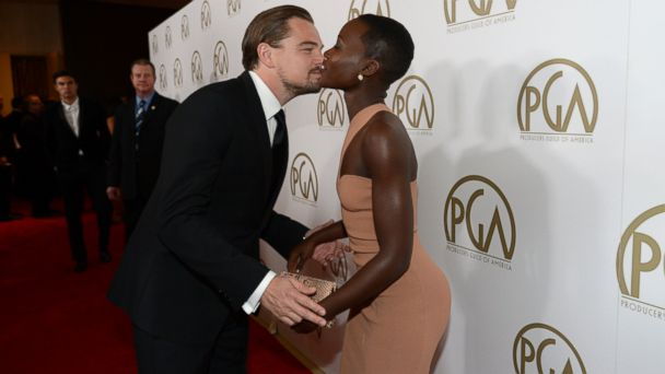PHOTO: Leonardo DiCaprio and Lupita Nyongo arrive at the 25th annual Producers Guild of America Awards, Jan. 19, 2014, in Beverly Hills, Calif.