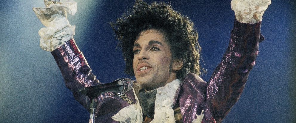PHOTO: Prince performs at the Forum in Inglewood, Calif., during his opening show, Feb. 18, 1985.