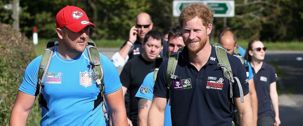 Prince Harry Walks 17 Miles With Wounded Veterans - ABC News