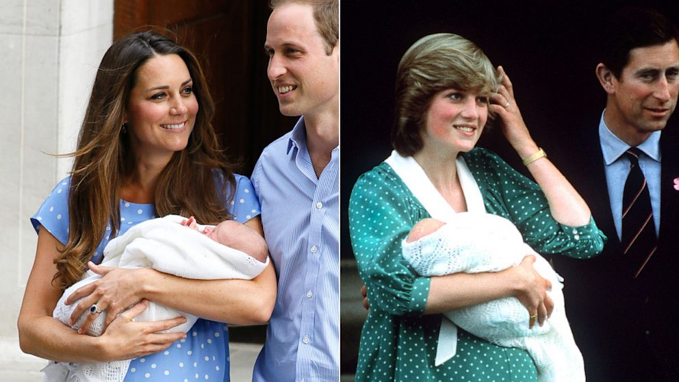 Kate Middleton Channels Princess Diana With Polka Dot Dress To Present  Newborn Son   ABC News