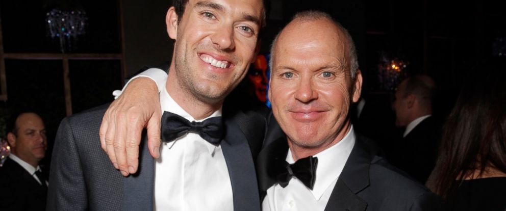 PHOTO: Sean Douglas and Michael Keaton are seen at FOXs 72nd annual Golden Globe Awards Party at the Beverly Hilton Hotel, Jan. 11, 2015, in Beverly Hills, Calif.