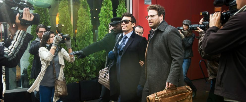 "PHOTO: James Franco, as Dave, and Seth Rogen, as Aaron, in a scene from Columbia Pictures ""The Interview."""