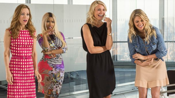 "PHOTO: Leslie Mann, Nicki Minaj, Cameron Diaz and Kate Upton in a scene from ""The Other Woman."""