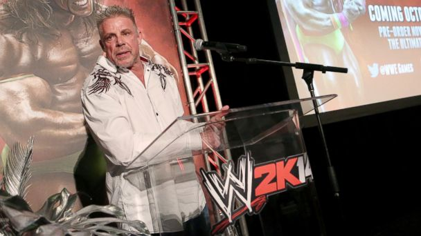PHOTO: Warrior talks about his career as the Ultimate Warrior, a playable WWE Legend, available exclusively by pre-ordering WWE 2K14, Aug. 18, 2013 in Los Angeles, Calif.