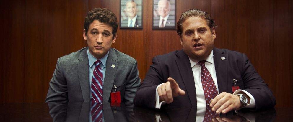 "PHOTO: Miles Teller, left, and Jonah Hill in a scene from, ""War Dogs."""