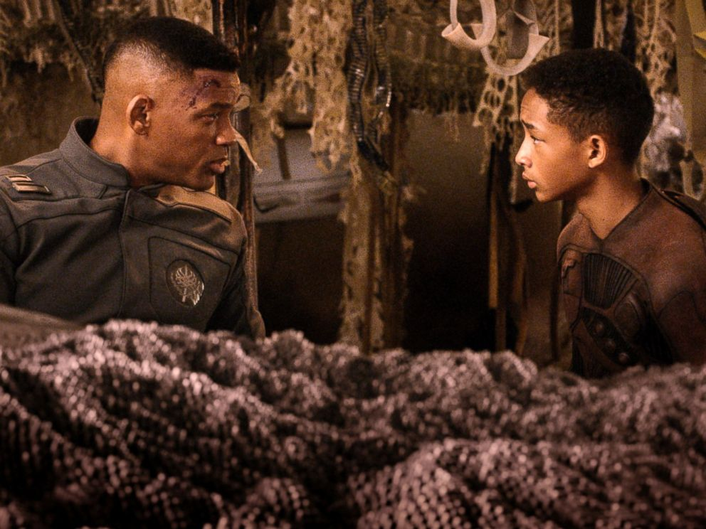 PHOTO: This film publicity image released by Sony-Columbia Pictures shows Will Smith, left, and Jaden Smith in a scene from After Earth.