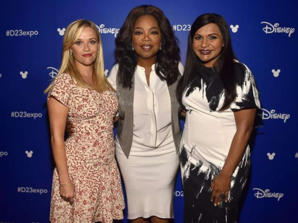 PHOTO:Reese Witherspoon, Oprah Winfrey, and Mindy Kaling of A Wrinkle In Time, in Anaheim, Calif., March 9, 2018.
