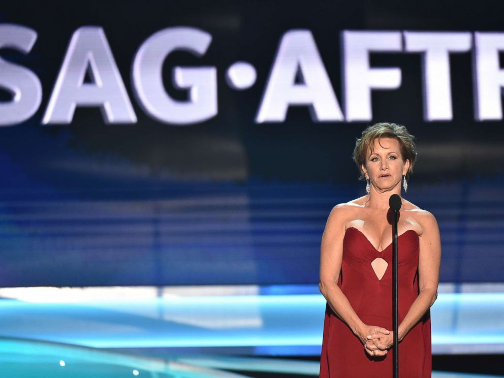 PHOTO: SAG-AFTRA President Gabrielle Carteris speaks at the 24th annual Screen Actors Guild Awards at the Shrine Auditorium & Expo Hall, Jan. 21, 2018, in Los Angeles.
