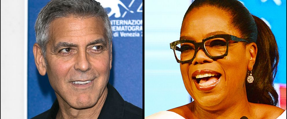PHOTO: George Clooney, left, and Oprah Winfrey.