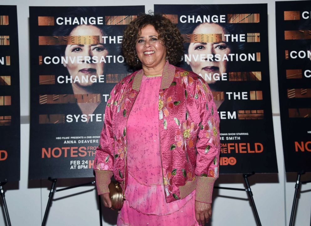 PHOTO: Actor-writer Anna Deavere Smith attends a special screening of HBO Films Notes From The Field at the Museum of Modern Art, Feb. 21, 2018, in New York.