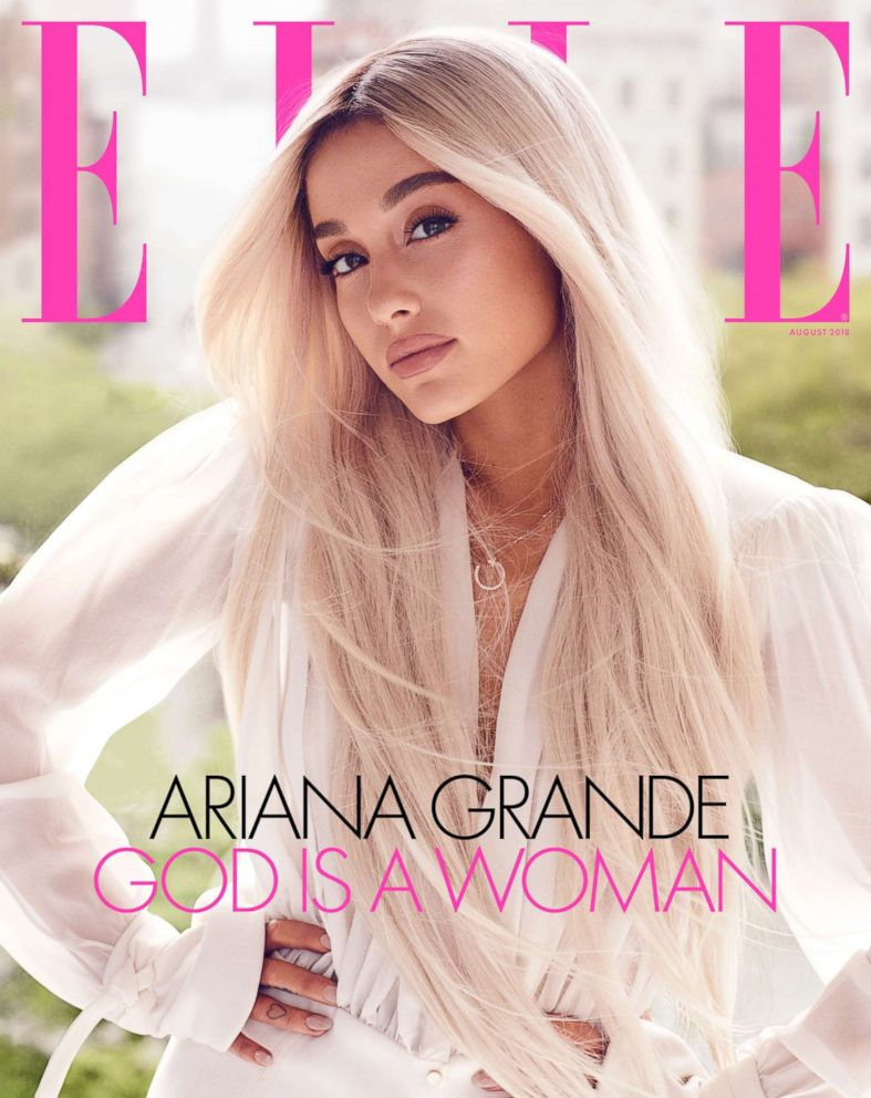 PHOTO: Ariana Grande appears on the August cover of Elle.