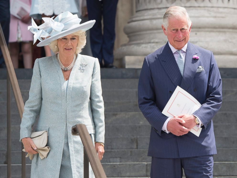 PHOTO: Britains Charles, Prince of Wales and Camilla, Duchess of Cornwall leave St. Pauls Cathedral in London, on June 10, 2016, after attending the National Service of Thanksgiving to mark the 90th birthday of Queen Elizabeth II.