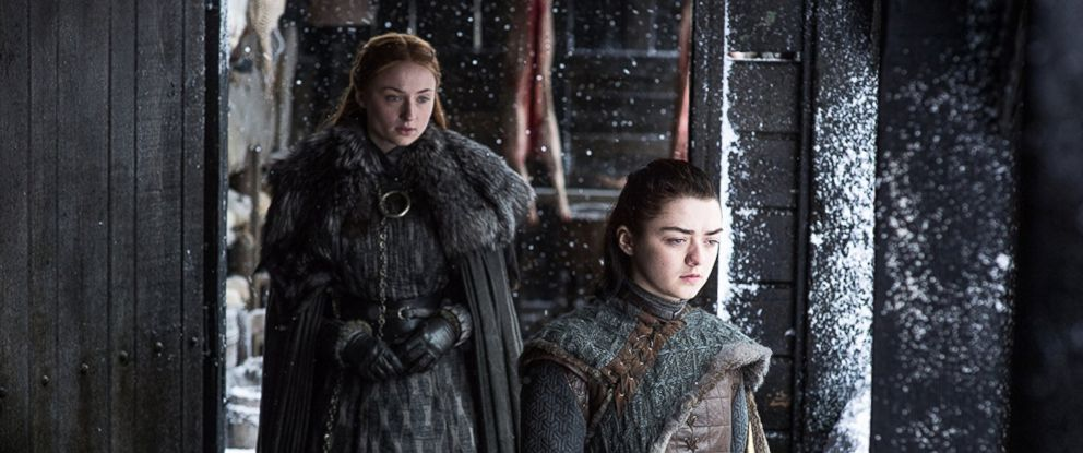 PHOTO: Sophie Turner and Maisie WIlliams in Season 7 of Game of Thrones.