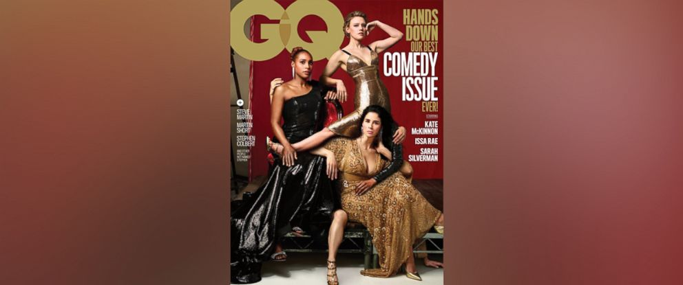 PHOTO: GQ's 2018 Comedy Issue cover stars Kate McKinnon, Issa Rae, and Sarah Silverman.