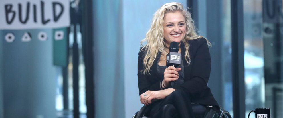 "PHOTO: Ali Stroker appears to promote ""Performing With The Pros"" during the BUILD Series at Build Studio, on Feb. 2, 2017, in New York City."