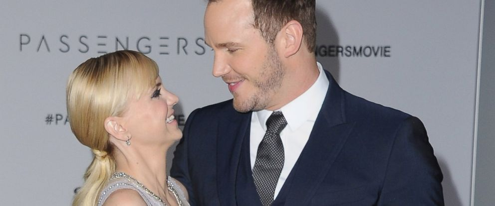 "PHOTO: Actress Anna Faris and actor Chris Pratt arrive at the Los Angeles Premiere ""Passengers"" at Regency Village Theatre, Dec. 14, 2016, in Westwood, Calif."