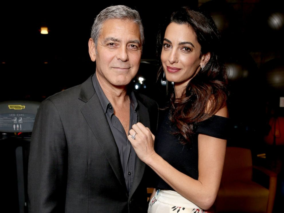 PHOTO: George Clooney and lawyer Amal Clooney attend the MPTF 95th anniversary celebration with Hollywoods Night Under The Stars at MPTF Wasserman Campus on Oct. 1, 2016 in Los Angeles.
