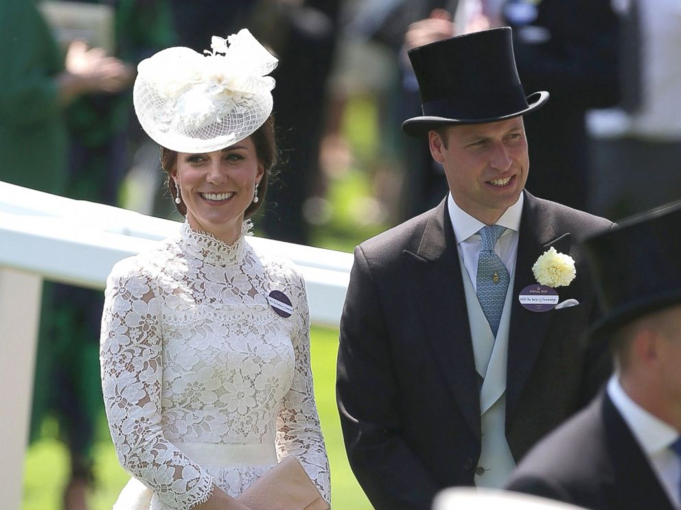 PHOTO: Britains Catherine, Duchess of Cambridge and her husband Britains Prince William, Duke of Cambridge, attend day one of the Royal Ascot horse racing meet, in Ascot, west of London, on June 20, 2017.