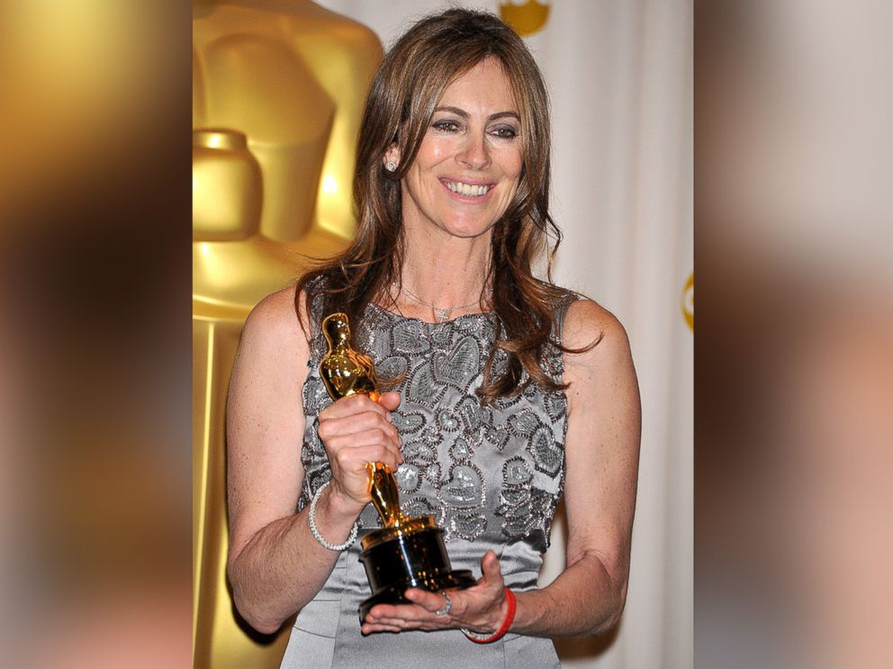 PHOTO: Director Kathryn Bigelow posing in the press room at the 2010 Oscars held at the Kodak Theatre in Los Angeles.