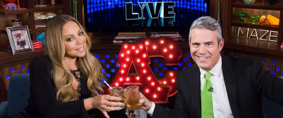 """PHOTO: Mariah Carey and Andy Cohen on """"Watch What Happens Live."""""""