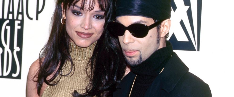 PHOTO: Prince and his wife Mayte Garcia at the NAACP Image Awards, Feb. 8, 1997.