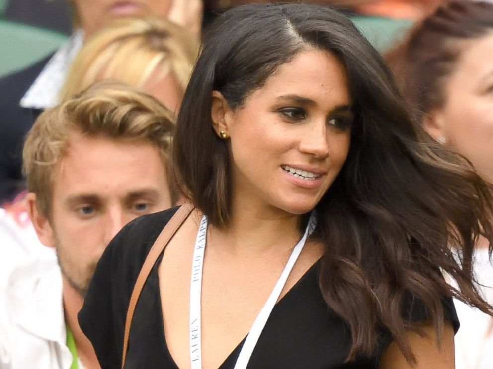 PHOTO: Meghan Markle at the Wimbledon Tennis Championships,July 04, 2016 in London, England.