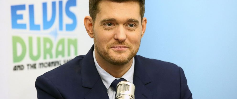 "PHOTO: Singer Michael Buble visits ""The Elvis Duran Z100 Morning Show"" at Z100 Studio on, Oct. 26, 2016, in New York City."