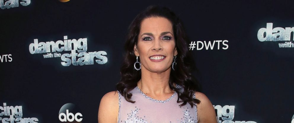 "PHOTO: Olympian Nancy Kerrigan attends ""Dancing with the Stars"" Season 24 at CBS Televison City, April 10, 2017, in Los Angeles."