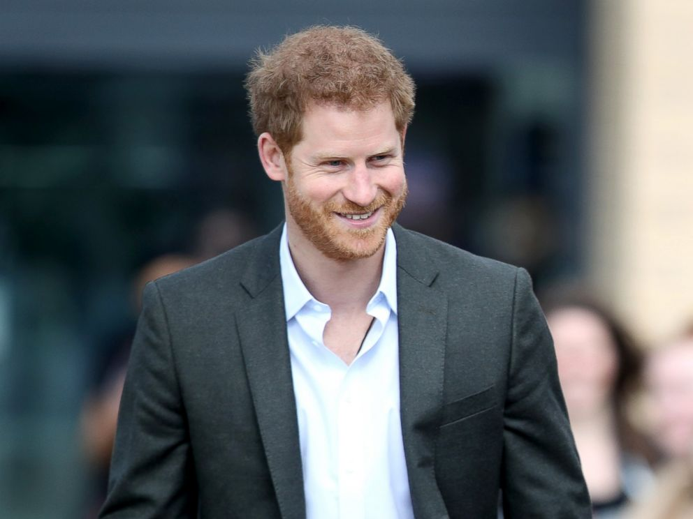 PHOTO: Prince Harry during a visit to Hamilton College, March 21, 2017, in Leicester, England.